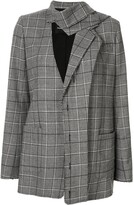 Proenza Schouler plaid deconstructed blazer