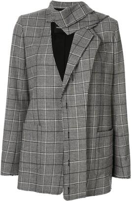 Proenza Schouler plaid deconstructed blazer