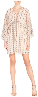 Miss Me Aztec Print Dress (Cream) Women's Clothing