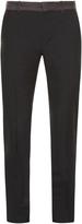 Alexander McQueen Ribbon-waist slim-leg trousers
