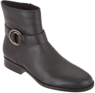 Frye & co. Leather Side Zip Ankle Boots - Adelaide