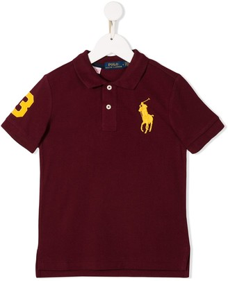 Ralph Lauren Kids embroidered logo polo top