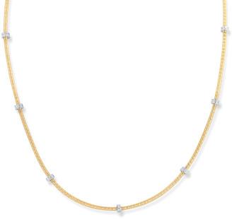 I. Reiss 14K 0.15 Ct. Tw. Diamond Roundel Necklace