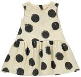 Rylee + Cru Polka Dot Dress Ecru