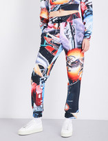 Moschino Transformers-print cotton-jersey jogging bottoms