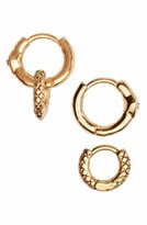 Luv Aj Women's Mismatch Serpent Hoop Earrings