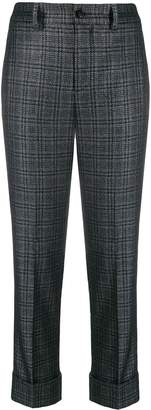 Incotex checked cropped trousers