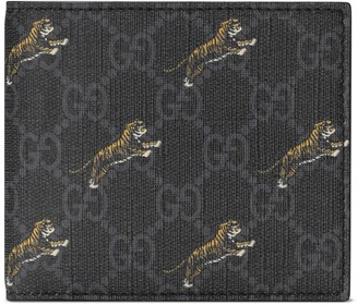 Gucci GG coin wallet with tiger print