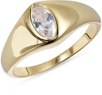 Argentovivo Oval Signet Ring