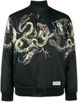 Wacko Maria - Cobra souvenir bomber jacket - men - Cotton/Polyester/Rayon/Wool - S