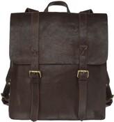 Vida Vida Wandering Soul Dark Brown Leather Backpack