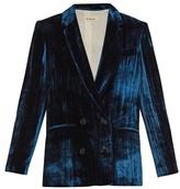 Masscob Double-breasted velvet blazer