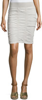XCVI Heliconia Ruched Pencil Skirt, Gray Stone