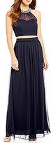 Xtraordinary Beaded Neckline Two-Piece Long Dress