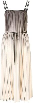 Proenza Schouler White Label Pleated Ombre Midi Dress