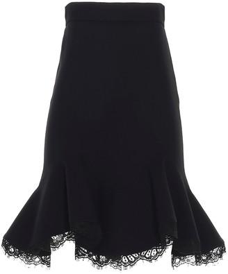 Alexander McQueen Lace Trim Mini Skirt