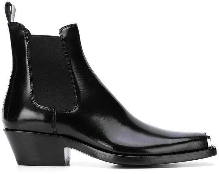 Calvin Klein square toe ankle boots