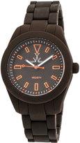 Toy Watch ToyWatch Velvety Bicolor Plasteramic Watch, Brown/Orange