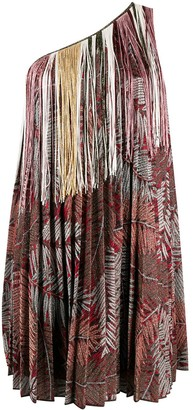 Missoni Fringed Pleated Mini Dress