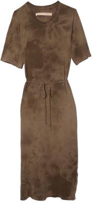 Raquel Allegra Belted Tee Dress in Army Tie Dye