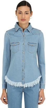 Marques Almeida Marques'almeida Fitted Cowboy Cotton Denim Shirt