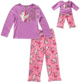 Dollie & Me Girls 4-14 Sparkly Unicorn Pajama Set