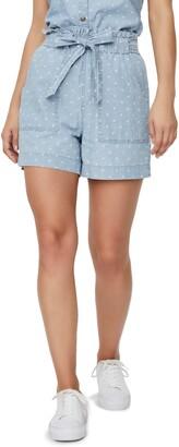 Vero Moda Chambray Organic Cotton Pocket Shorts