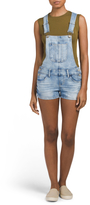 Juniors Denim Short Overalls
