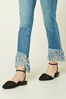 Forever 21 FOREVER 21+ Crochet Ankle-Strap Flats