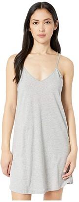Skin Natural Jorie Organic Cotton Chemise (Heather Grey) Women's Underwear