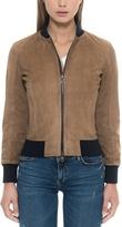 Forzieri Brown Suede Women's Bomber Jacket