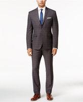 Perry Ellis Portfolio Men's Extra Slim-Fit Gray Windowpane Suit