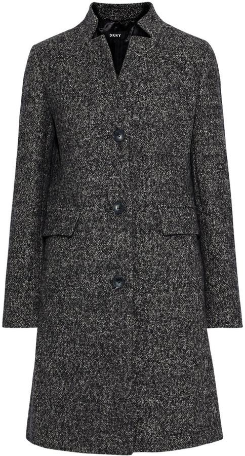 DKNY Melange Tweed Coat