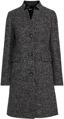 DKNY Melange Tweed Coat