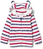 Americana slub bear zip hoodie