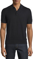Michael Kors Cotton/Silk Short-Sleeve Polo Shirt