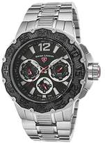Swiss Legend Men's 14097SM-11-BB Ultrasonic Analog Display Swiss Quartz Silver Watch