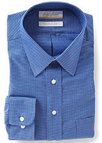 Roundtree & Yorke Gold Label Big & Tall Non-Iron Check Regular Full-Fit Point-Collar Dress Shirt