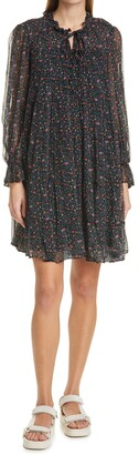 Sea Bennet Floral Print Long Sleeve Tunic Dress