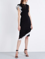 Christopher Kane Feather-trim crepe dress