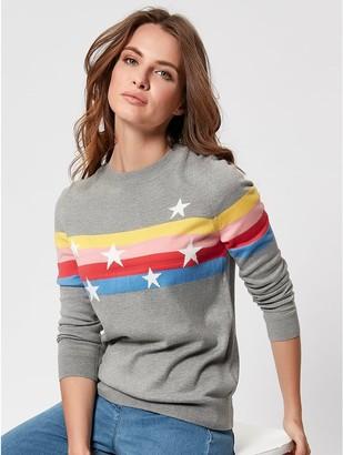 M&Co Petite star striped jumper