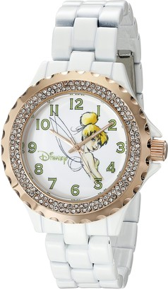 Disney Women's W001636 Tinker Bell Analog Display Analog Quartz White Watch