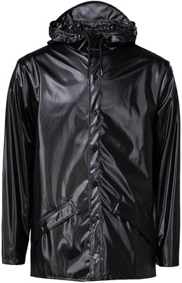 Rains Shiny Black Unisex Jacket Raincoat - S/M