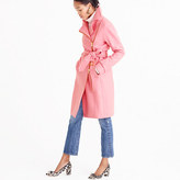 J.Crew Belted zip trench coat in wool melton