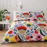 Marimekko Ojakellukka Twin Comforter Set in Red