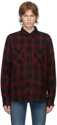 Amiri Red Core Shadow Plaid Shirt