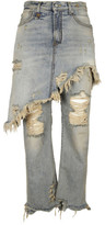 R 13 Double Classic Skirt Jeans