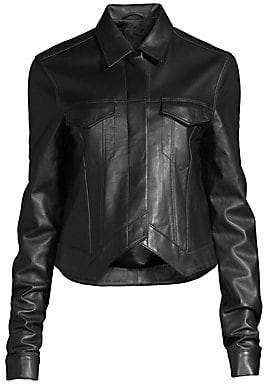 RtA Women's Leather Point Jacket