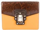 Dolce & Gabbana Crocodile & Python-Trimmed Bag
