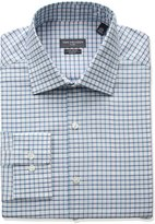 Van Heusen Men's Flex Slim Fit Plaid Spread Collar Dress Shirt